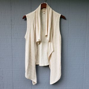 Puella Textured Ribbed Waterfall Sweater Vest Sm
